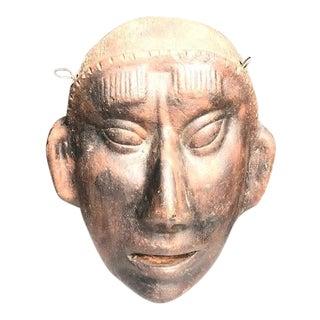 Primitive Terra Cotta Tribal Mask For Sale