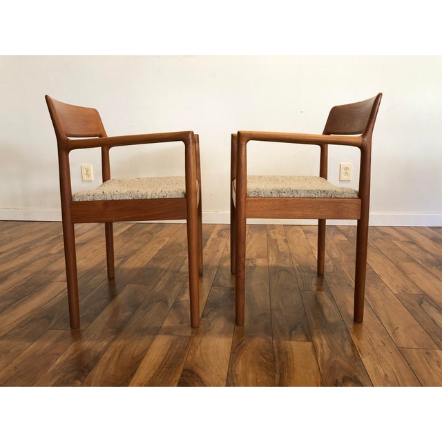 Mid-Century Norgaard Teak Arm Chairs, Made in Denmark, a Pair For Sale - Image 9 of 13