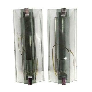 1970s 1970s Italian Veca Glass Sconces - a Pair For Sale