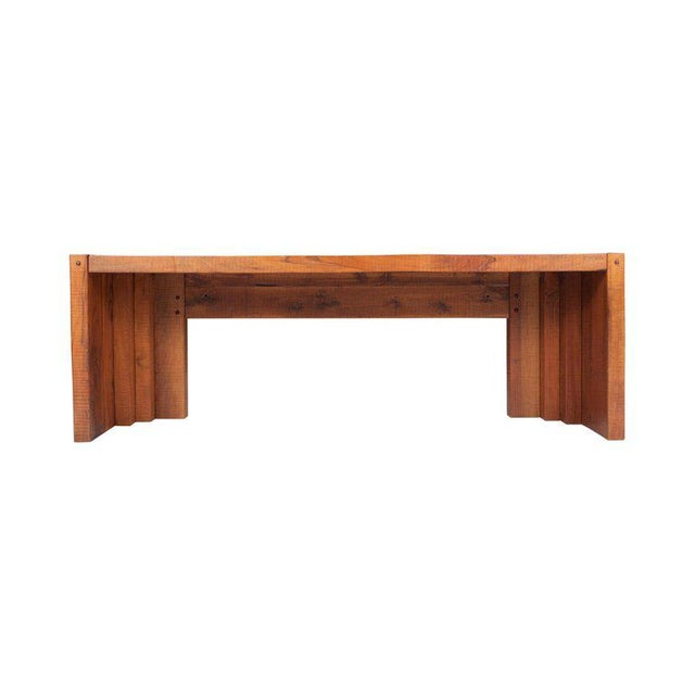 Italian hardwood console tables with a modernistic appearance, designed by wood master and designer Giuseppe Rivadossi. It...