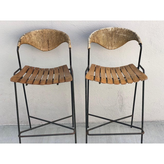 Arthur Umanoff Bar Stools - A Pair - Image 2 of 6