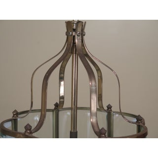 Small Curved Beveled Glass Hanging Chandelier Fixture Preview
