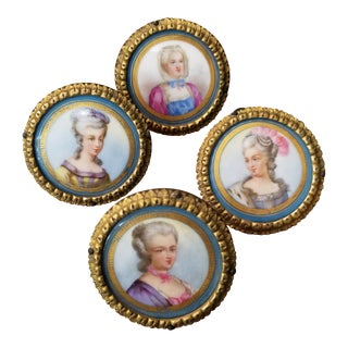 Four Antique French Porcelain Miniatures For Sale
