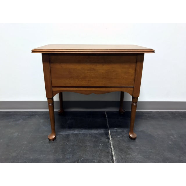 Pennsylvania House Cherry Queen Anne Diminutive Lowboy Chest Nightstand For Sale In Charlotte - Image 6 of 11