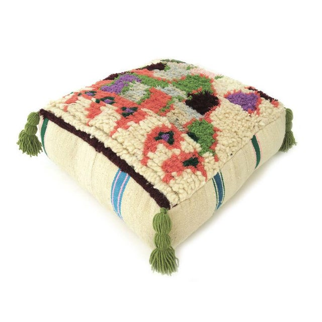 Vintage Abstract Moroccan Pouf - Image 8 of 8