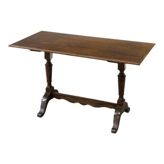 Antique English Walnut Pub Coffee Table For Sale