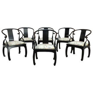 James Mont Style Horseshoe Chairs by Bernhardt - Set of 6