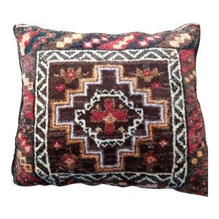"20th Century Tribal Baluchi Geometric Rug Pillow - 14""x17"" For Sale"