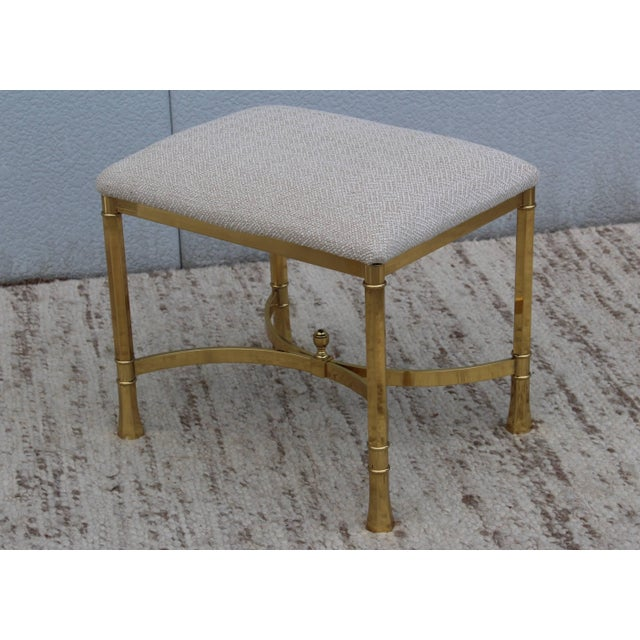 1970s Modern Italian Brass Ottomans For Sale In New York - Image 6 of 11