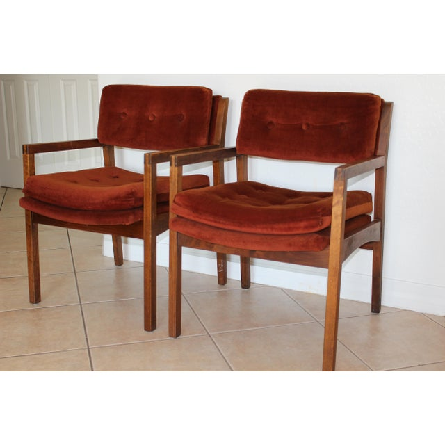 Mid-Century Cube Chairs - A Pair - Image 2 of 11
