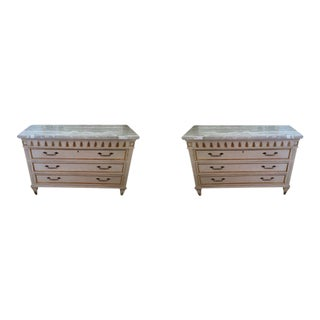 Marge Carson Mable Top Transitional Drawer Chests - A Pair For Sale