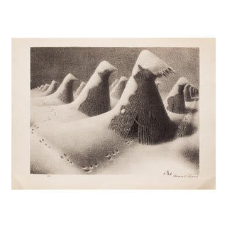 1939 Grant Wood, January Photogravure For Sale