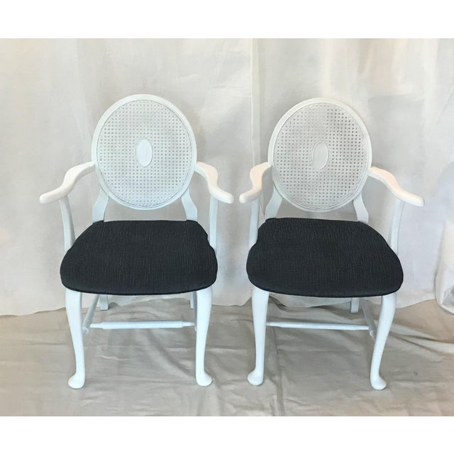 This charming pair of arm chairs came from an estate in Southern Virginia. The mid-century interpretation of classic...