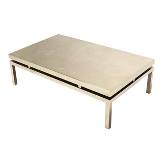Willy Daro Signed High End Brass Coffee Table For Sale