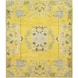 "Geva, Oushak Area Rug - 8' 6"" X 9' 9"" For Sale"