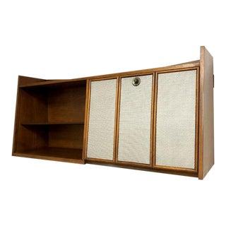 Mid Century Modern Bookcase with Secretary Desk Bar