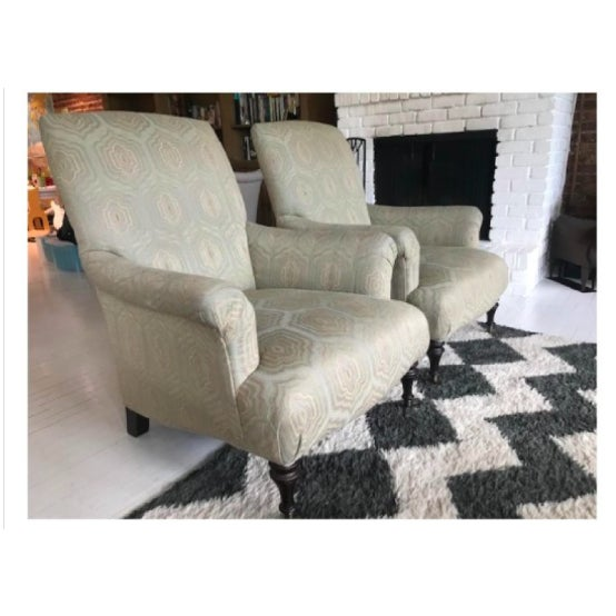 Contemporary Modern Mitchell Gold+Bob Williams Rebecca Chairs - A Pair For Sale - Image 3 of 7