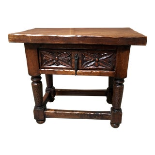 Antique Gothic Style Side Table For Sale