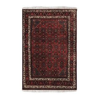 1950s Vintage Hamadan Wool Persian Rug-4′11″ × 6′11″ For Sale