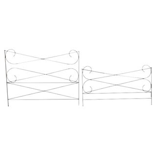 Custom Made King Size Iron Bedframe For Sale