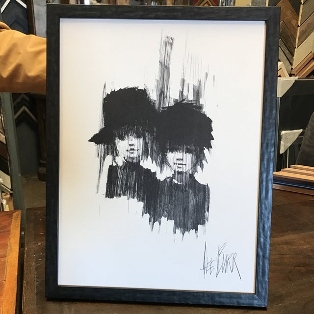 "Lee Burr Mid-Century ""Two Girls"" Print - Image 2 of 6"
