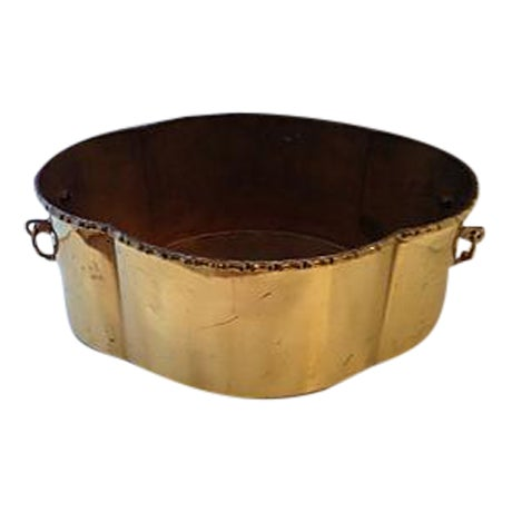 Brass Bamboo Style Planter - Image 1 of 6