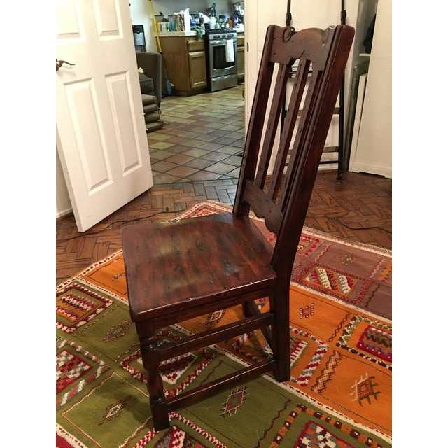 California Spanish Mahogany Dining Chairs - Set of 4 - Image 4 of 4