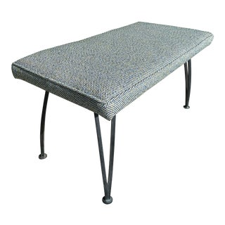 Mid Century Modern Iron Bench For Sale