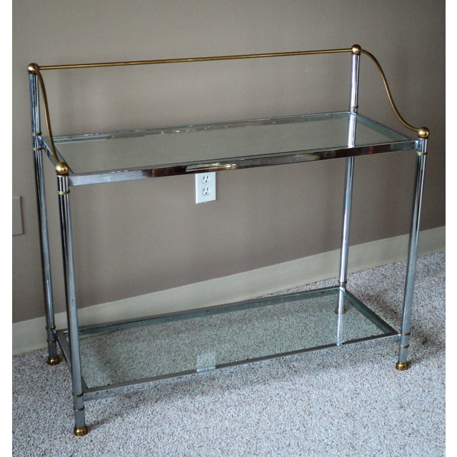 Vintage Chrome & Brass Console - Image 2 of 11