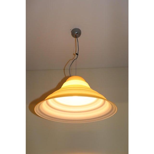 "Late 20th Century ""Incamiciato"" Amber Murano Glass Mid-Century Modern Pendant Light For Sale - Image 5 of 11"