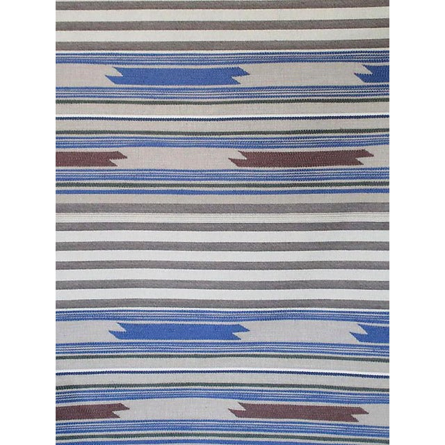 Boho Chic Scalamandre Cheyenne, Blu Grigio Fabric For Sale - Image 3 of 3