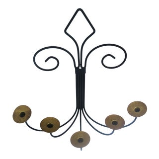 Aet Deco Style Wall Candle Holder For Sale