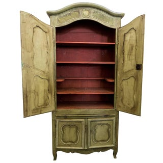 Louis XVI Green Armoire For Sale