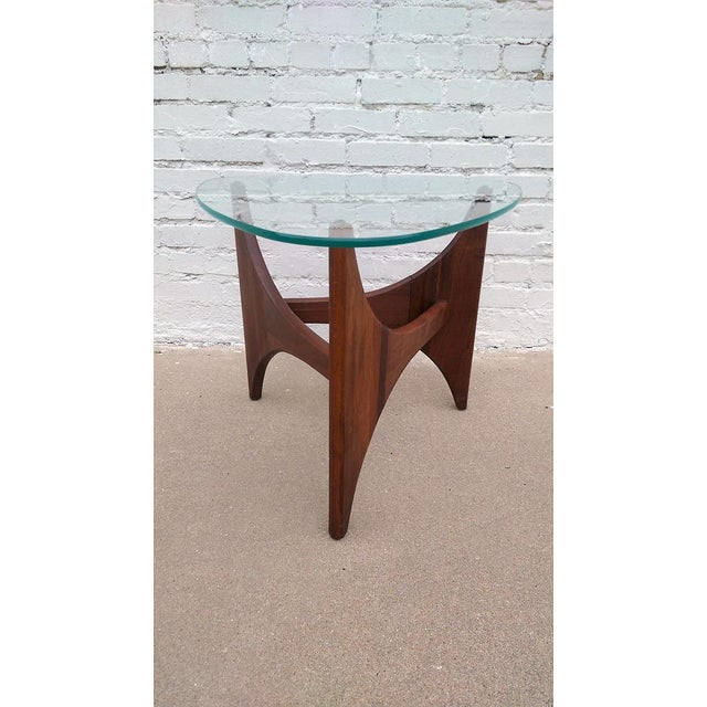 Adrian Pearsall Triangle Walnut Side Table - Image 2 of 6
