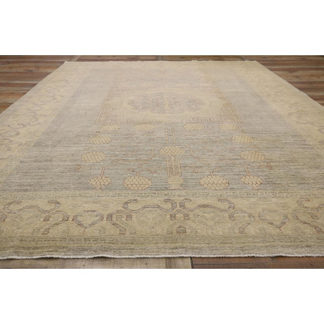 Textile Transitional Khotan Style Area Rug - 8'9 X 12'2 For Sale - Image 7 of 10