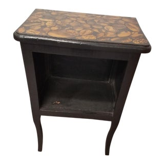 1900s Traditional Side Table Decoupaged With Sea Shells For Sale