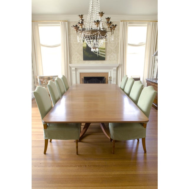 9-Piece Holly Hunt-Style Dining Set - Image 3 of 11