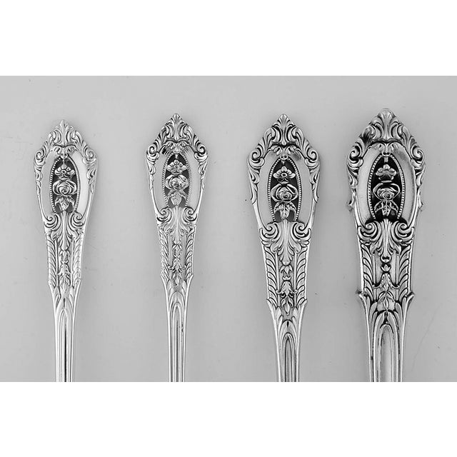 Wallace Rose Point (Sterling, 1934) 4 Piece Place Size Setting. Includes One Each Place Knife, Place Fork, Salad Fork, And...