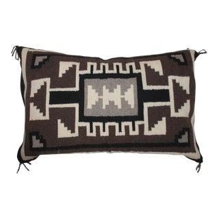 Navajo Indian Weaving Geometric Bolster Pillow For Sale