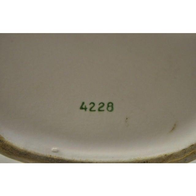 Vintage Lady Head Vase Japan 4228 Green Dress and Gloves White Hat Napco For Sale - Image 10 of 12