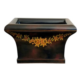 Maitland-Smith Hand Painted Tole Painted Lacquer Planter For Sale