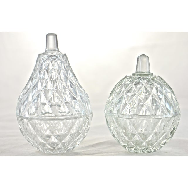 Traditional Apple & Pear Glass Boxes - A Pair For Sale - Image 3 of 3