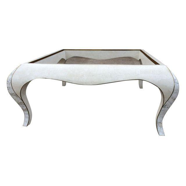 Maitland-Smith Tessellated Stone Coffee Table - Image 1 of 7