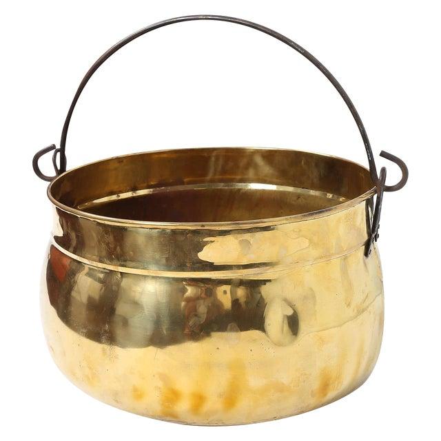 Polished Brass Kettle For Sale
