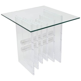 Lucite Plates Coffee Table Base For Sale