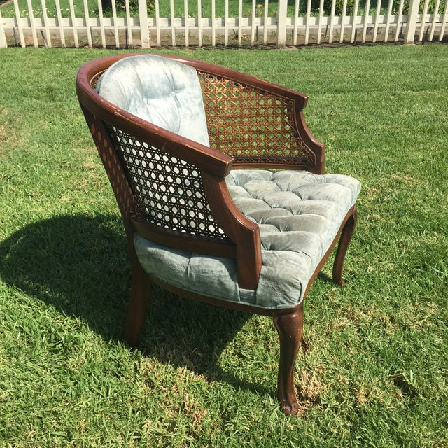 Mid-Century Cane Barrel Chair - Image 3 of 11
