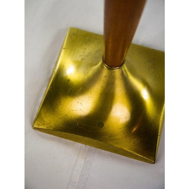 Gold Danish Modern Teak & Brass Table Lamp For Sale - Image 8 of 10