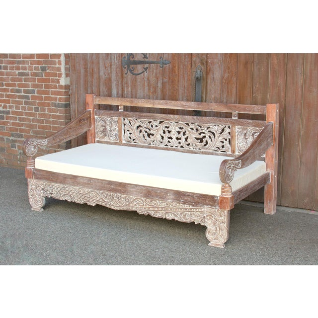 Dee Opium Lime Washed Daybed For Sale - Image 4 of 9