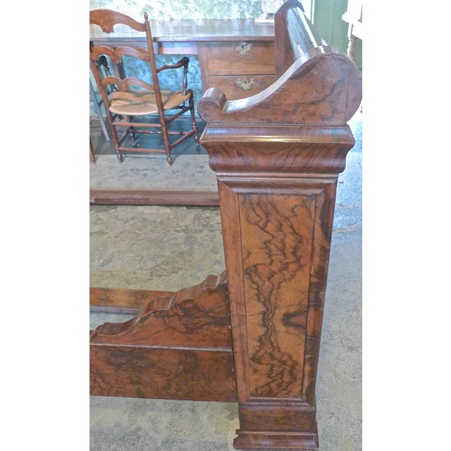 Brown 19th Century Country Louis Philippe Burled Walnut Bedframe For Sale - Image 8 of 10