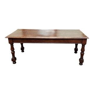 American Antique Quarter Sawn Oak Library Table C.1910 For Sale